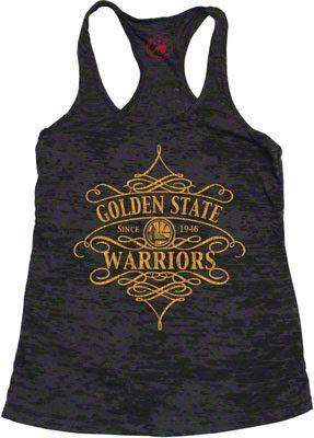 Golden State Warriors Women's Black Wilshire Tank Top