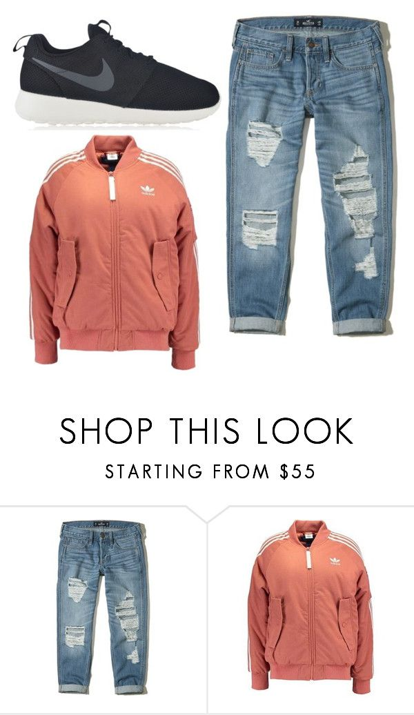 """""""Bombers"""" by rosamackenzie on Polyvore featuring Hollister Co. and NIKE"""