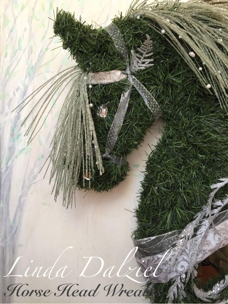 Horse Head Wreaths by Linda Dalziel/Facebook hand woven faux garland