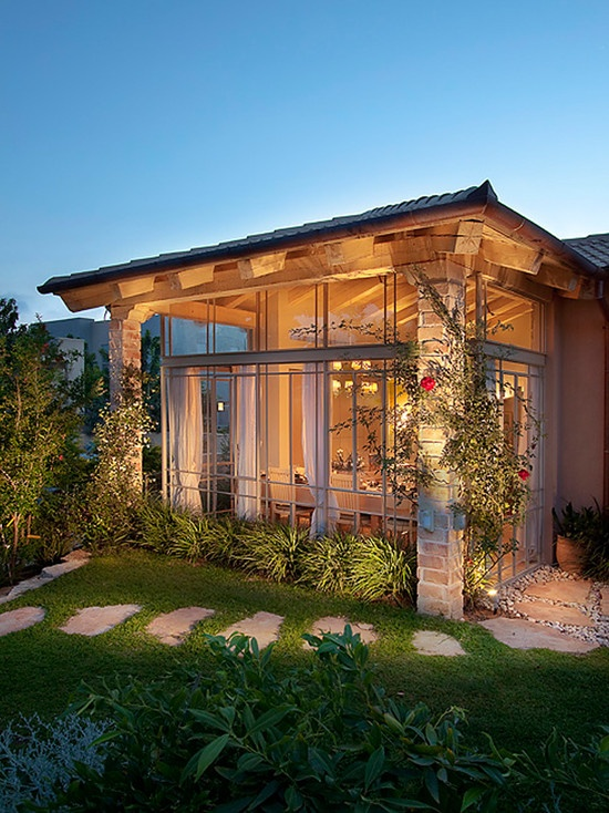 wall of windows....Mediterranean Exterior Front Porch Design, Pictures, Remodel, Decor and Ideas - page 28