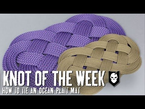 ▶ Knot of the Week: How To Tie an Ocean Plait Mat - YouTube