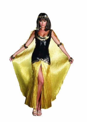 This is one of my favorite Womens Egyptian Halloween Costumes as I love the flashy colors of gold and black.  I love how bold and trendy this is.  This will look great at any Halloween custome party.  Dreamgirl Cleo Egyptian Costume