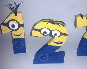 Despicable Me Wooden Minion Letters. Minion by VannessasCreations