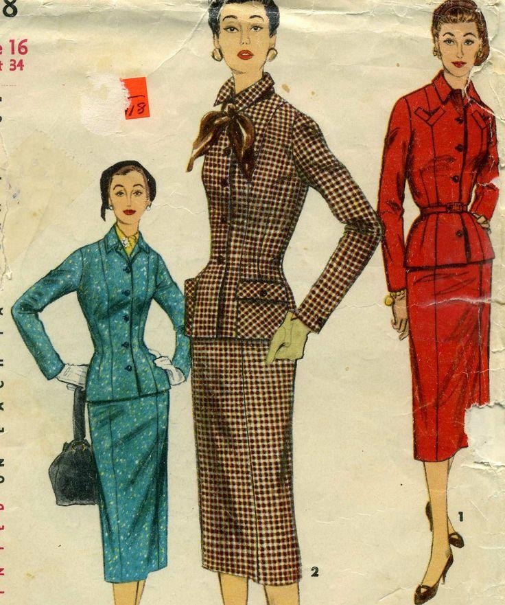 Rare 1950s Womens Suit Pattern