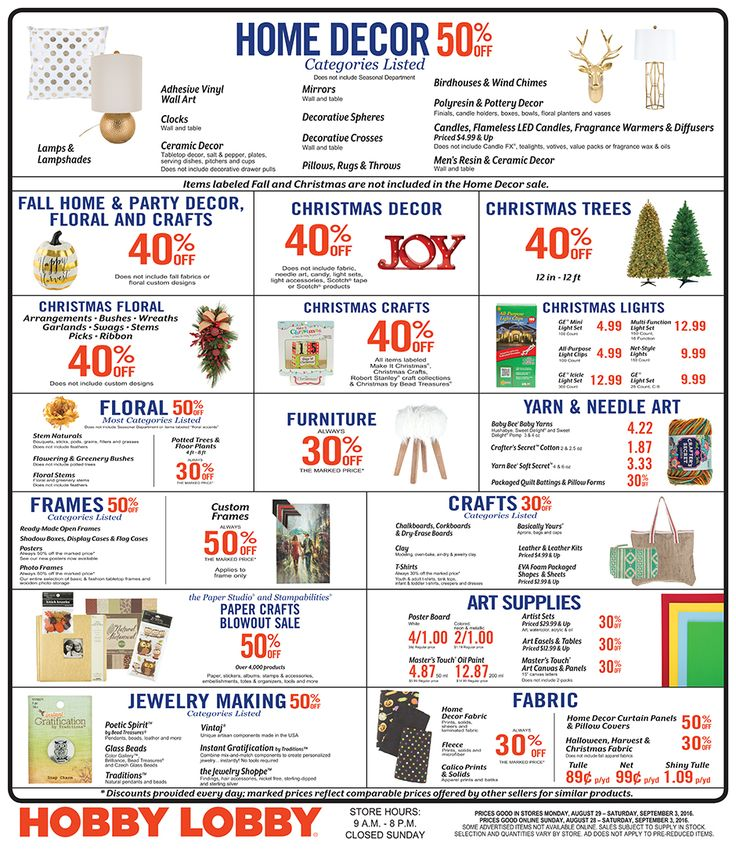 Check out the latest Hobby Lobby sale ad valid 12/02/18 – 12/08/18 on: Distressed Open Frame Wood Shelf; Small Green Lantern with Gold Handle;.