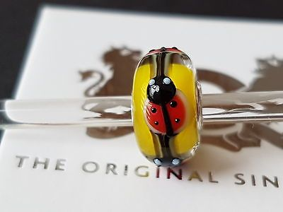 Trollbeads-New-OOAK-Unique-Yellow-Ladybug-Classic-Core