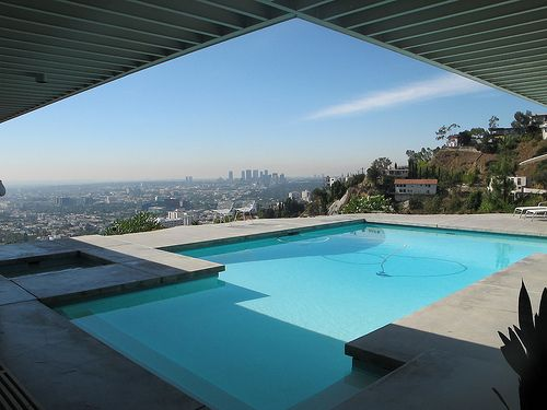 17 best images about csh 22 pierre koenig on pinterest mid century modern house and post and - Stahl swimmingpool ...