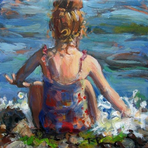 Original Fine Art For Sale: 17 Best Images About Children. Paintings On Pinterest