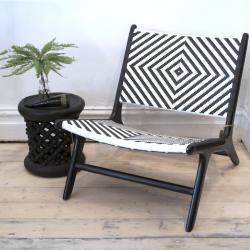 Black & White Lounge Chair