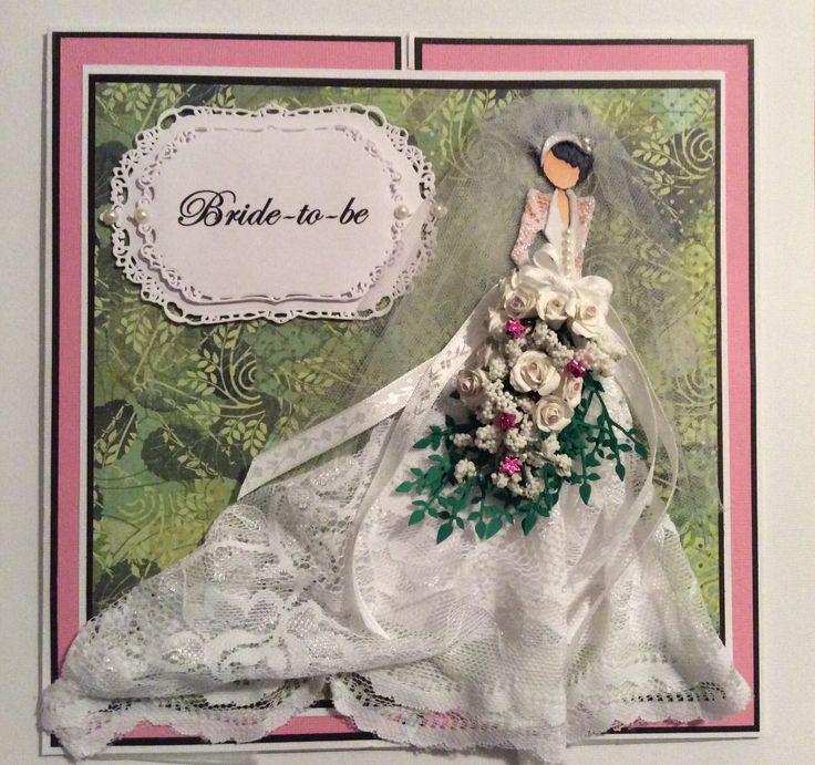 Wedding card. Prima doll stamp, spellbinder die cuts
