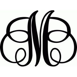 Monogram Letter M Literki Scrapbooking Silhouette Design