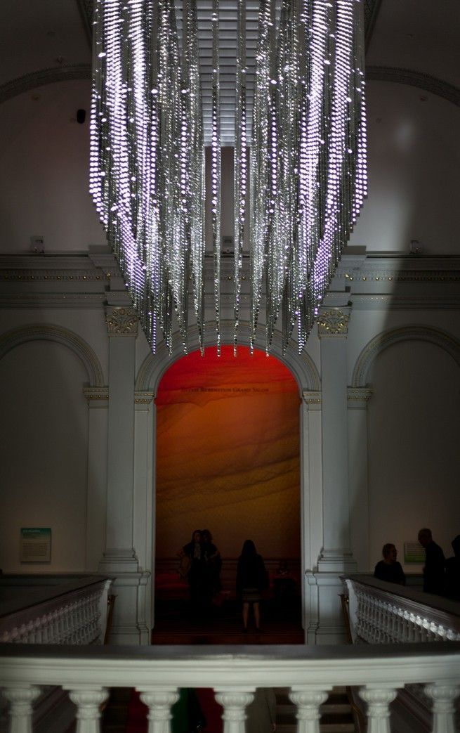 Leo Villareals Dazzling Light Sculpture Revealed At Renwick Gallery