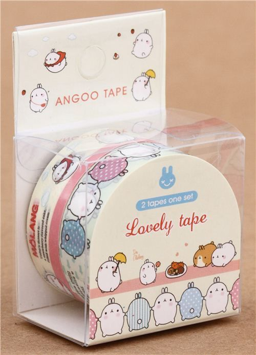 cute Molang bunny decoration Masking Tape deco tape set 2pcs 2
