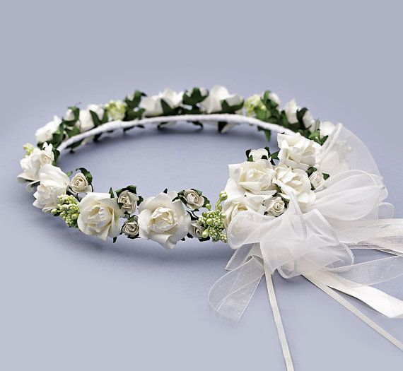Flower Girl Flower Crown  Ivory Blossom Kids by FloralHeadpiece