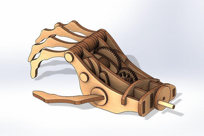 The Mechanical Hand - STEP / IGES, STL, SolidWorks, Other - 3D CAD model - GrabCAD