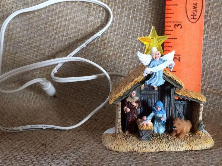 DEPT 56 NATIVITY MANGER SCENE-MINIATURE-CHRISTMAS VILLAGE SCENE-FREE SHIPPING | Collectibles, Holiday & Seasonal, Christmas: Modern (1946-90) | eBay!