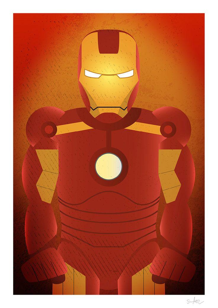 Iron man illustration by Simon Ackeby #Ironman #illustration #Poster #ackebydesign