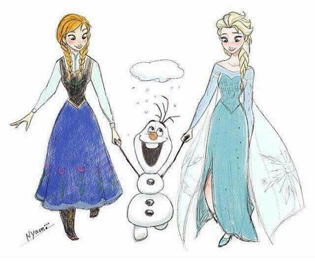 Anna, Olaf and Elsa from Frozen