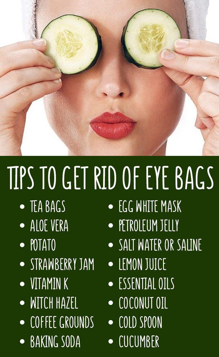 10 Tips How to get rid of eye bags  Eye bags treatment, Eye skin
