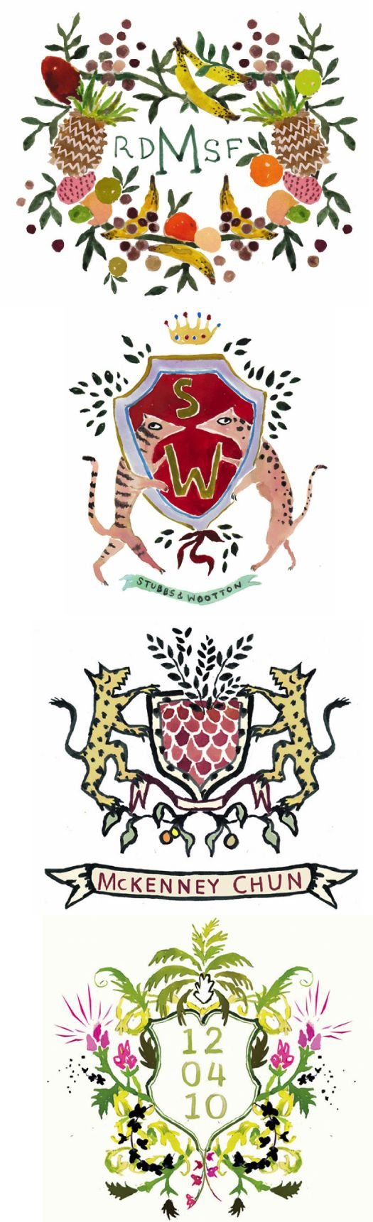 Hand painted heraldry. I think we should invent a family crest when you come to visit.