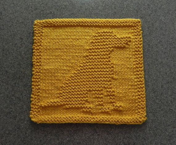 Gold LABRADOR RETRIEVER Dog Knit Dishcloth by AuntSusansCloset Knit Dishclo...