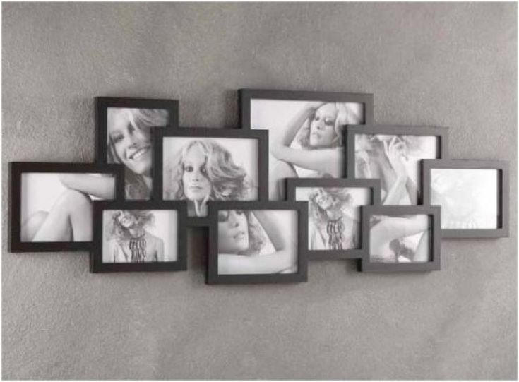 Cornice portafoto multipla tomasucci 10 foto nera 783 in