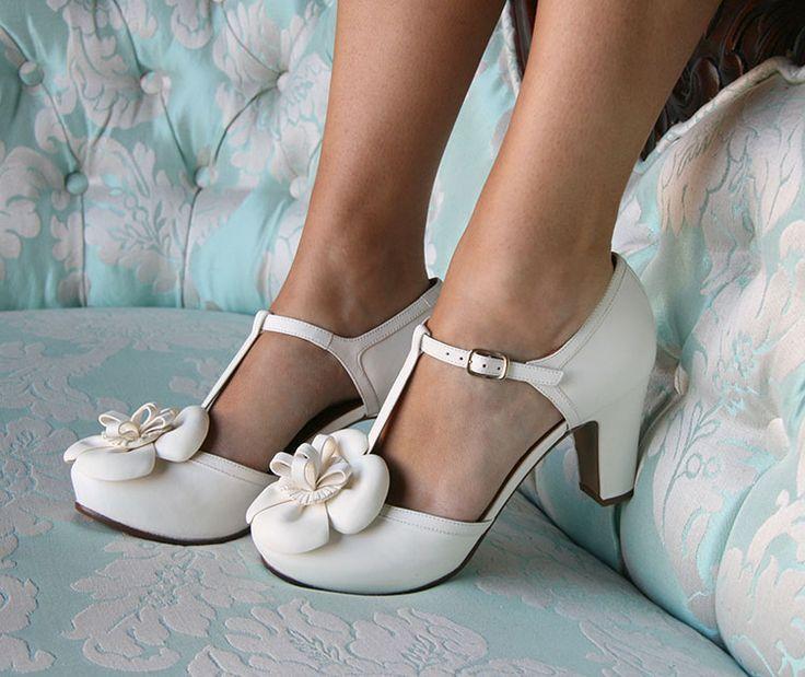 Scarpe da sposa 2015: spazio (soprattutto) al vintage! Chie Mihara Bri Lusa Alma