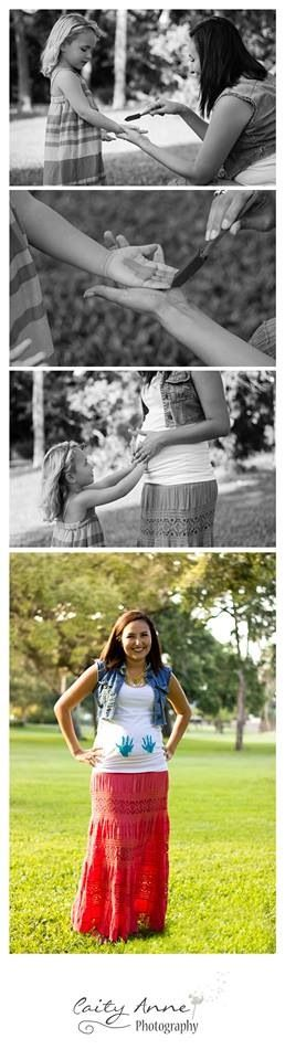 Pregnancy Gender Reveal Photography Idea With Sibling Painted Handprints Www.facebook.com/caityannephotos