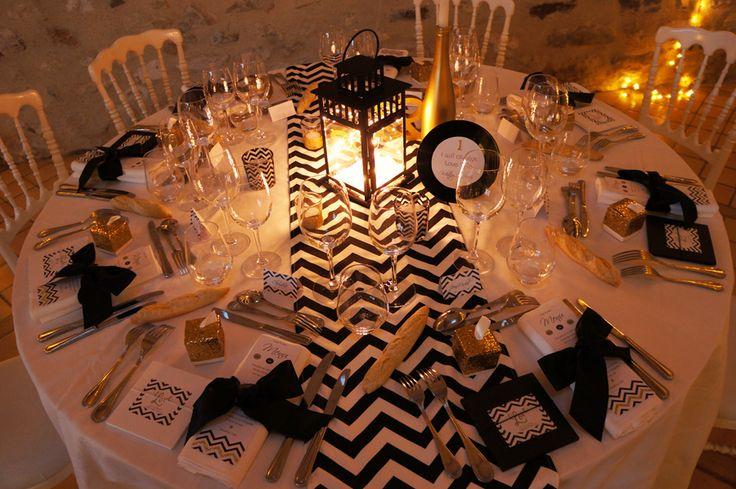 Mariage-Black-Glitter-Design Dessine-moi-une-etoile et Un Lys dans l'atelier