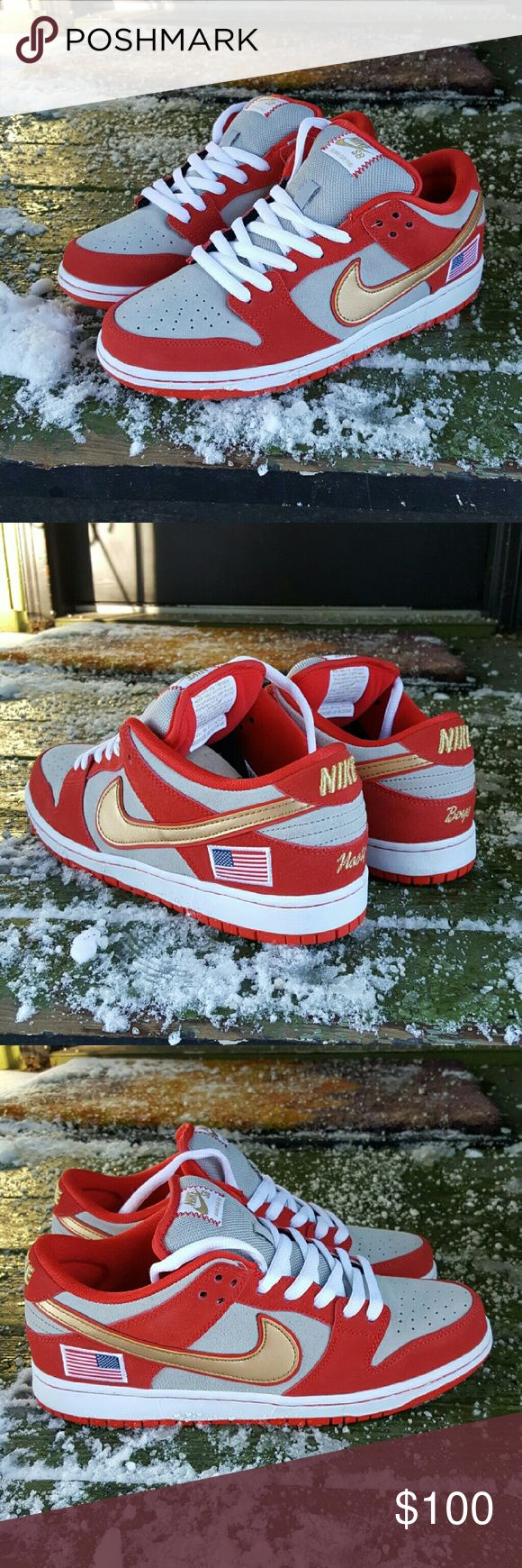 New Nike SB Dunk Low Nasty Boy Anonymous Collab Cincinnati Reds Nike SB Dunks that were to honor the 1990 world series champions. Rare shoe that is extremely high quality, the stitching is flawless and looks amazing. Brand new no box, never worn size 10. Nike Shoes