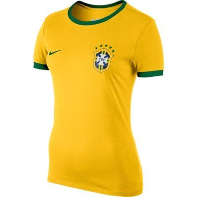 Nike Brazil Women's Core Ringer T-Shirt - Gold