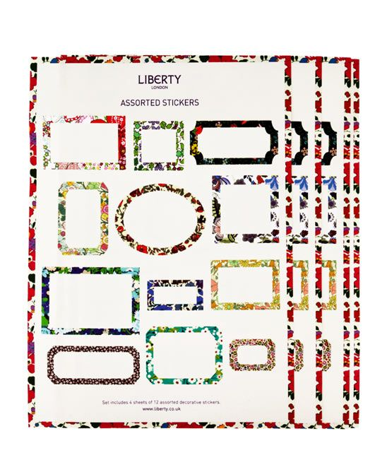 Assorted liberty print sticker labels