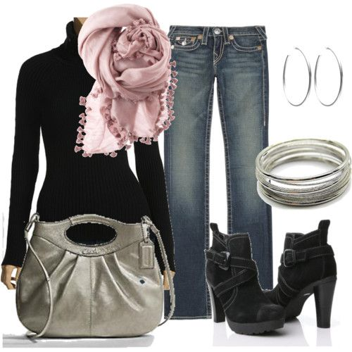 black / pink / silver