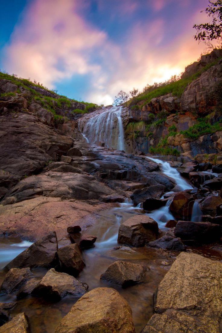 Lesmurdie Falls at sunrise