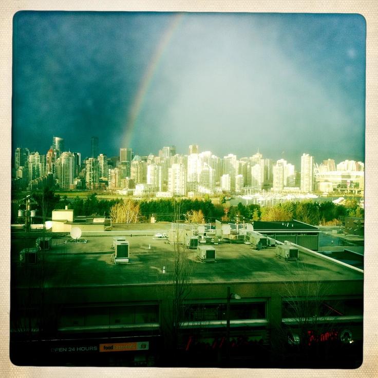 Rainbow over Vancouver!