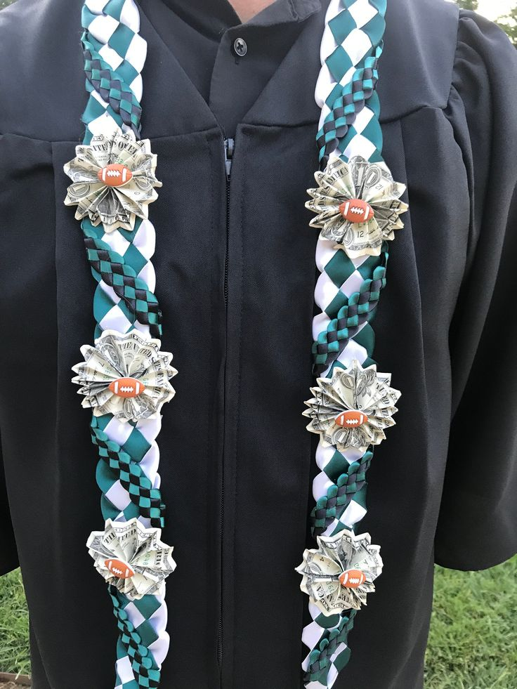 Graduation leis| Money leis| Handmade leis| Ribbon leis| Graduation gift|Sports leis|Football