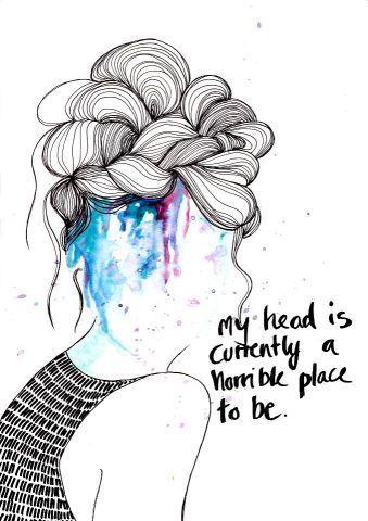 Chronic Migraine, headache, pseudotumor, IH, Cranial Imbalance, CFS Imbalance, Brain Injury, Chronic Pain, Illness, art