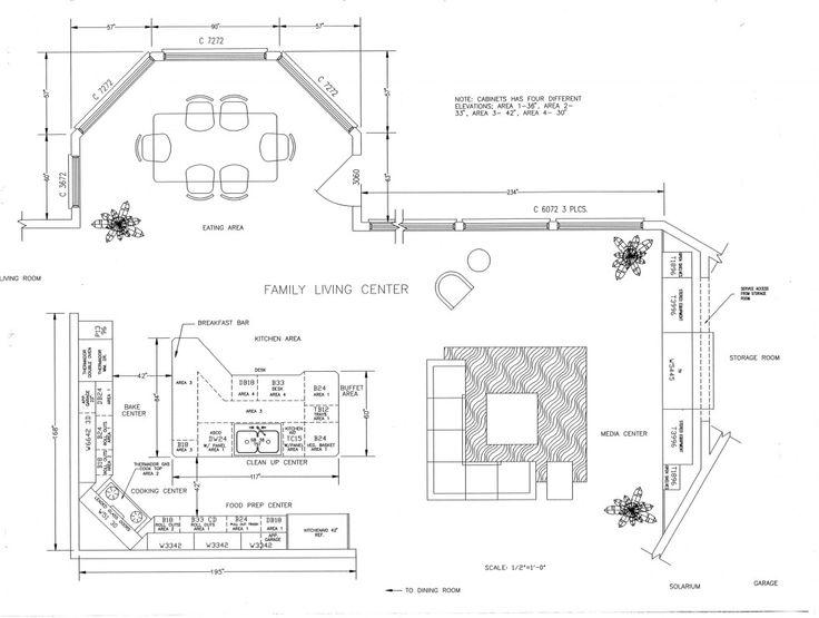 Kitchen Floor Plan - Construction Drawing