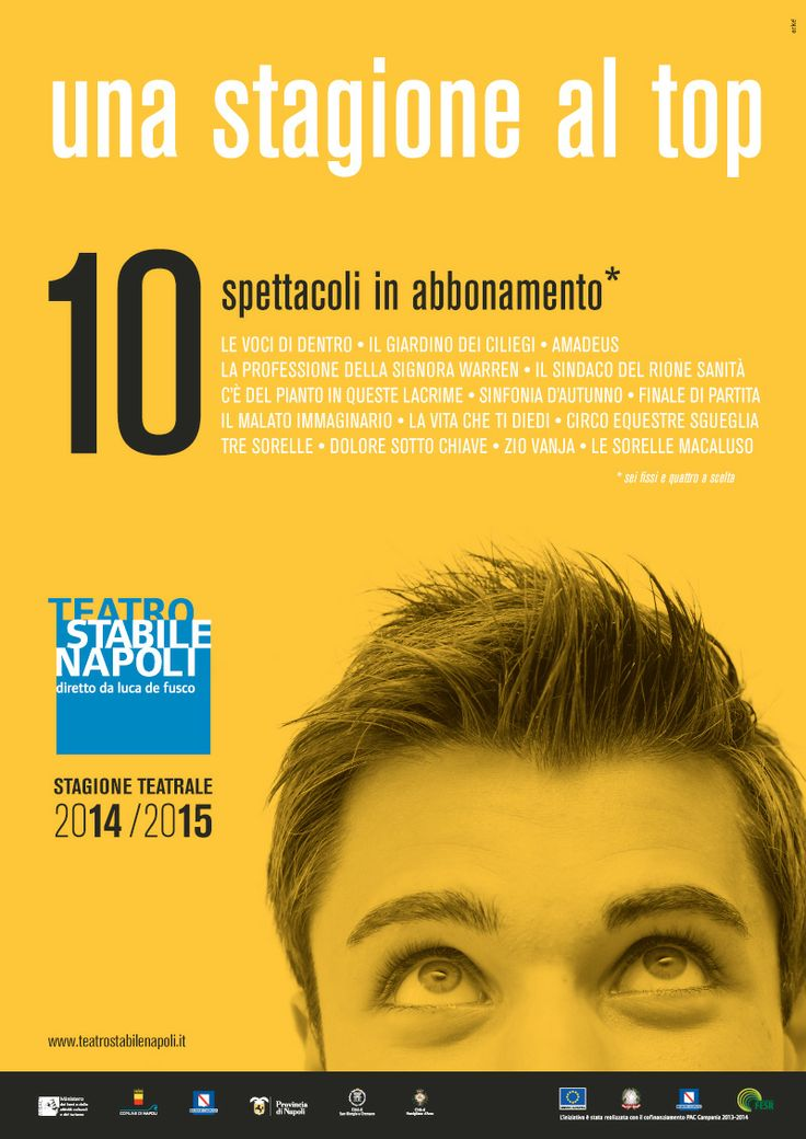 """Campagna di #comunicazione """" una #stagione al top"""" #Mercadante - #Teatro Stabile di #Napoli  #stagioneteatrale #palcoscenino #stage #debutto #performances #theatre"""