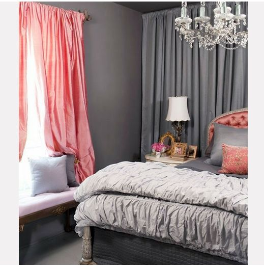 Grey And Pink Bedroom Dream Pinterest Grey Decorating Small Spaces And