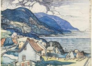 """Marc-Aurèle Fortin, Canadian artist. """"Saint-Siméon"""", 1938"""