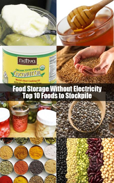 Food Storage Without Electricity - Top 10 Foods to Stockpile