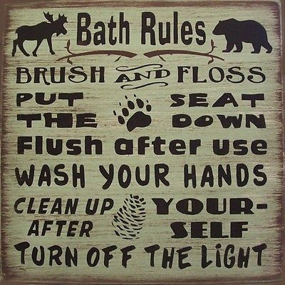 Cabin-Bath-Rules-Country-Lodge-Rustic-Primitive-Home-Decor