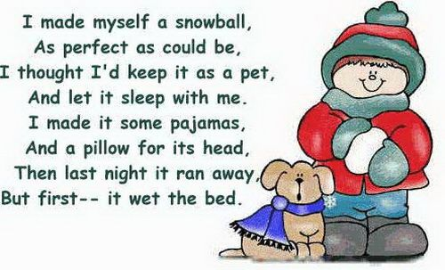 adorable Snowball poem. would be a great christmas card
