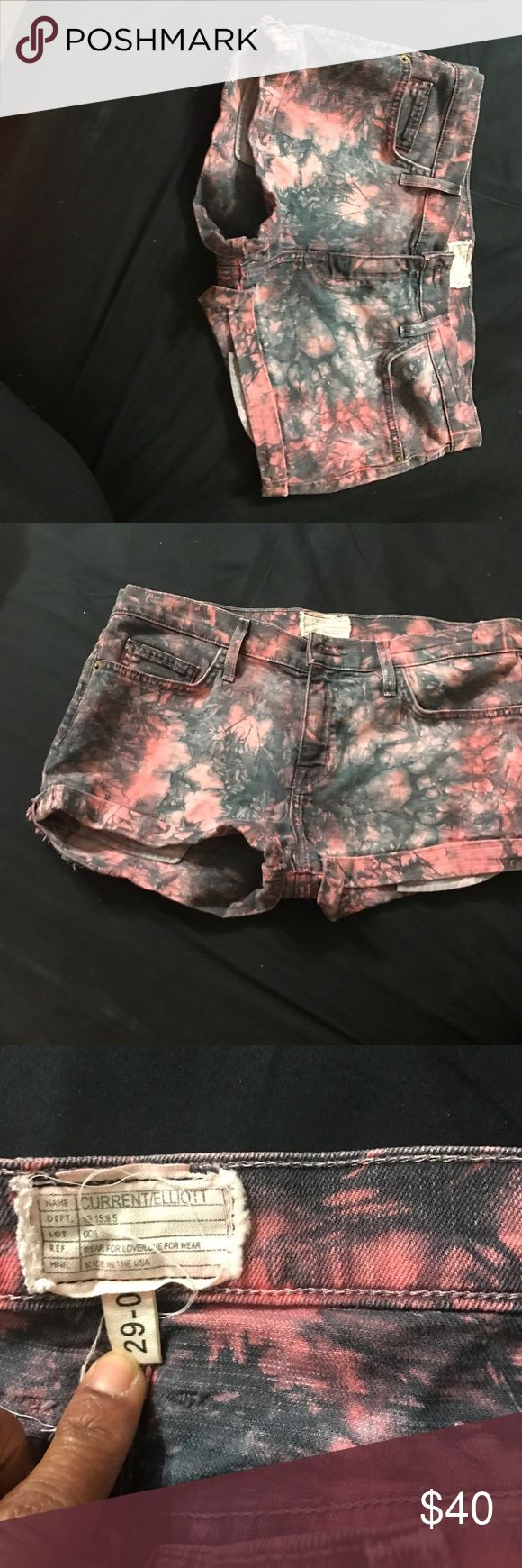 """Current/Elliott  the girlfriend short Size 29   Classic denim with a little bit of an edge! These shorts are perfect to spice up your spring/summer wardrobe this season.   - 1"""" Inseam  - 9.5"""" Rise  - 98% cotton 2% elastane  - Shorts measure approx 10"""" in length  - Distressed front and back pockets  - Cuffed Current/Elliott Shorts Jean Shorts"""