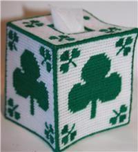St. Patrick's Day Shamrock Tissue Topper