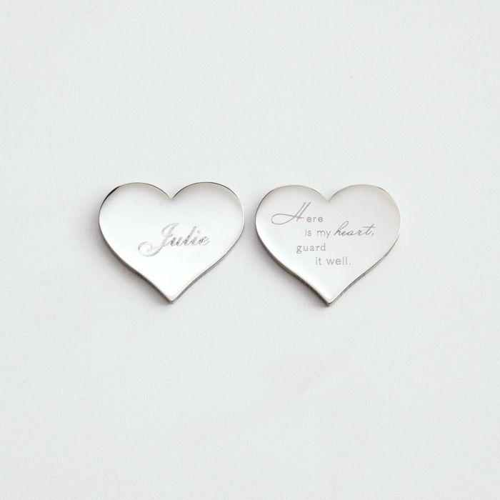 Gravierte Herz Krawattennagel Zum Valentinstag Schenken, Romantische  Geschenkidee Für Männer