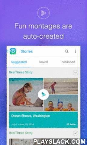 """RealTimes Video Collage Maker  Android App - playslack.com ,  Maak een videocollage van uw filmrol, stuur video naar vrienden en houd privé albums veilig in de cloud met RealTimes met RealPlayer, de snelle en eenvoudige collagemaker voor Android!Maak onmiddellijk videocollages door foto's en video's te combineren in een prachtig video """"Verhaal"""" - een videocollage met muziek en aangepaste filmeffecten die u kunt remixen, delen en opslaan.RealTimes is de meest veelzijdige collagemaker. Bewerk…"""