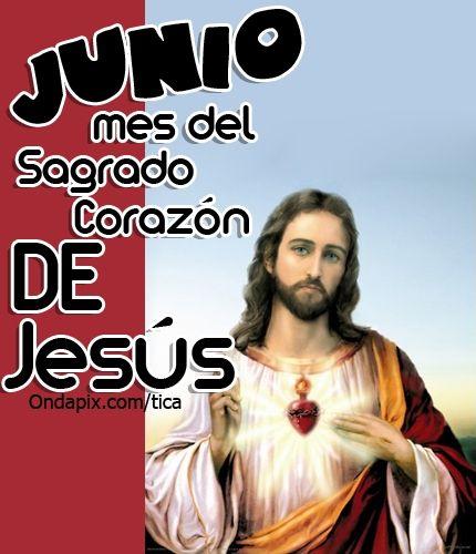 Junio mes del sagrado corazon de jesus Más tarjetitas en ...