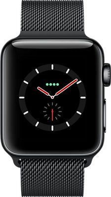 Apple WATCH Series 3 38mm Stainless Steel Case w/ Milanese Loop - Black